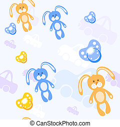Color baby pattern, vector illustration
