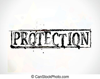 Protection grunge Text