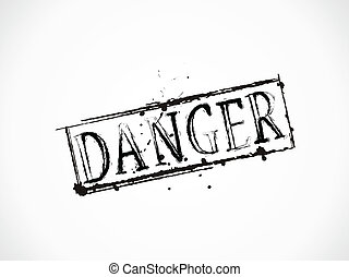 Danger grunge Text