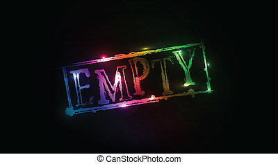Empty grunge colorful text