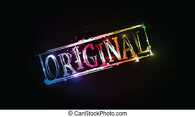 Original grunge colorful text