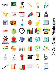 education icons - Set of education icons, vector...