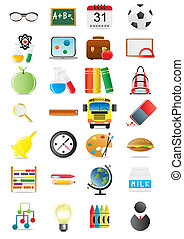 collection - Vector illustration of collection of education...