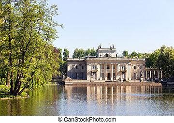 Lazienki Palace in Warsaw - Palace on the Water, also called...