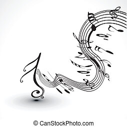 musical notes background - abstract musical notes background...