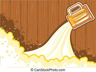 Beer background.Vector color symbol of Illustration for design