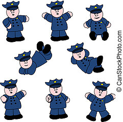 People Professions - Policeman Set - Illustrations set of...