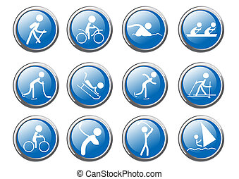vector-sport-icon-set - Vector illustration of collection of...
