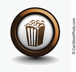 popcorn icon - vector design of popcorn icon isolated on...