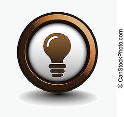 idea web icon - vector glossy idea web icon design element.