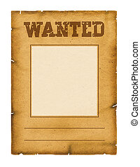 Wanted poster background for design on white