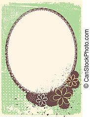 Vector grunge decoration Floral frame background for celebrate