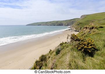 Porth Ceiriad Beach near Abersoch in Gwynedd Wales