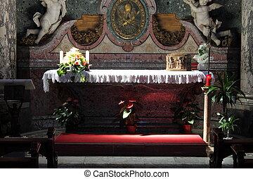 católico, altar