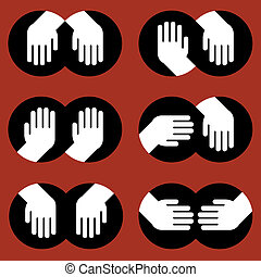 icons of human hands of various gestures
