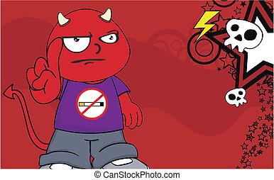 demon kid cartoon background9