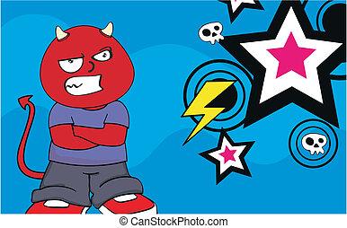 demon kid cartoon background10