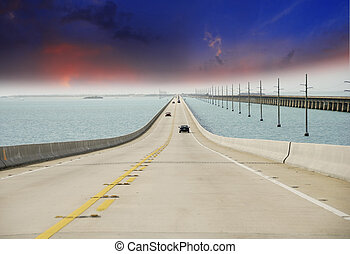 Sky Colors on Overseas Highway