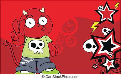 demon kid cartoon background12