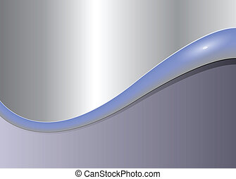 Abstract  background metallic grey wave, vector.