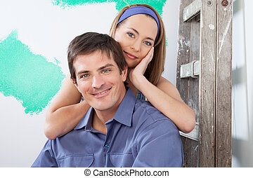 Portrait of a loving, young couple