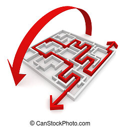 maze - various ways of passing the maze