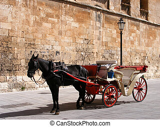 Carriage - Horse carriage in Palma de Mallorca, Spain