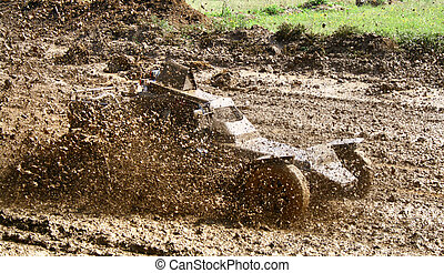 Buggy racing - Buggy in a dirt