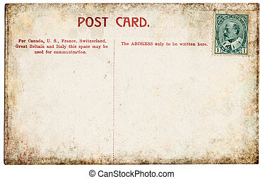Canadian Postcard - The back side of an old Canadian...