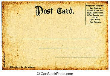 tysk, vykort, gammal