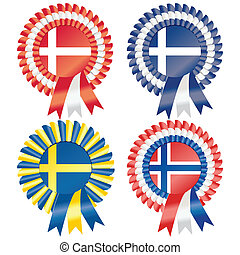 Northern European Rosettes - Rosettes to represent Northern...