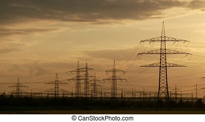Utility Poles, Sunset - Power Poles, Sunset