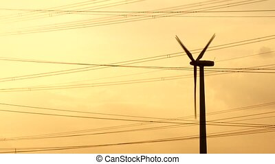 Wind Engine - Power Poles, Sunset