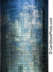 Glass facade - Background of glas facade with reflection of...