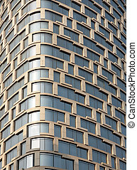 Glass facade - Facade of modern office building with glass...
