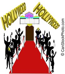 hollywood red carpet - red carpet event for special...