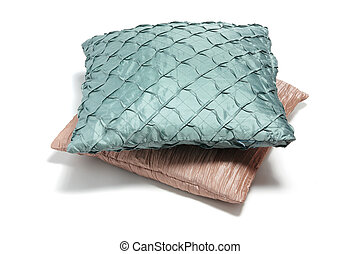Cushions on Isolated White Background