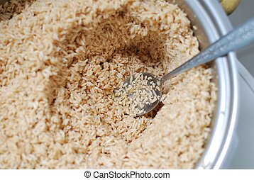 Uncooked rice ingredient - Uncooked glutinouos rice...