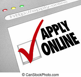 Apply Online - Web Screen - Fill Out Application on Website