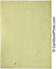 Cream handmade sheet of paper isolated