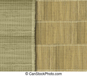 Earthy green and yellow bamboo strip background