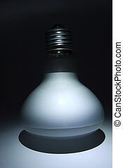 matte white bulb illuminated in the dark