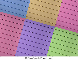 Siding - A multi colored design example of a siding which...