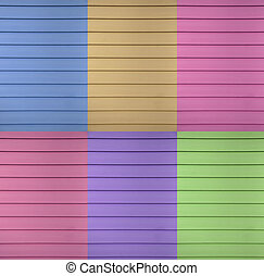 Siding - A multi colored design example of a siding has thin...