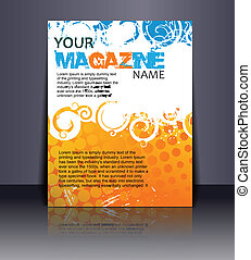 Magazine layout design template Vector Illustration