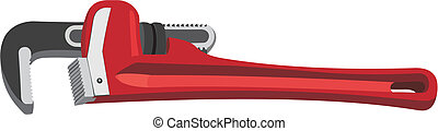 Adjustable spanner - The vector image of an adjustable...