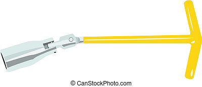 Candle wrench - The vector image of a wrench for replacement...