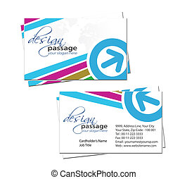 business card - vector business card set, elements for...