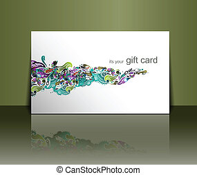 Gift card design - Beautiful gift card design element,...