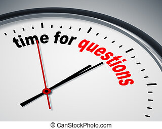 time for questions - An image of a nice clock with time for...